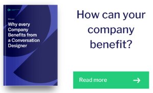 How your company benefits form a conversation designer - Download paper